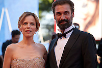 Sonia Bergamasco and Fabrizio Gifuni at the opening ceremony and premiere of the film La La Land at the 73rd Venice Film Festival, Sala Grande on Wednesday August 31st, 2016, Venice Lido, Italy.