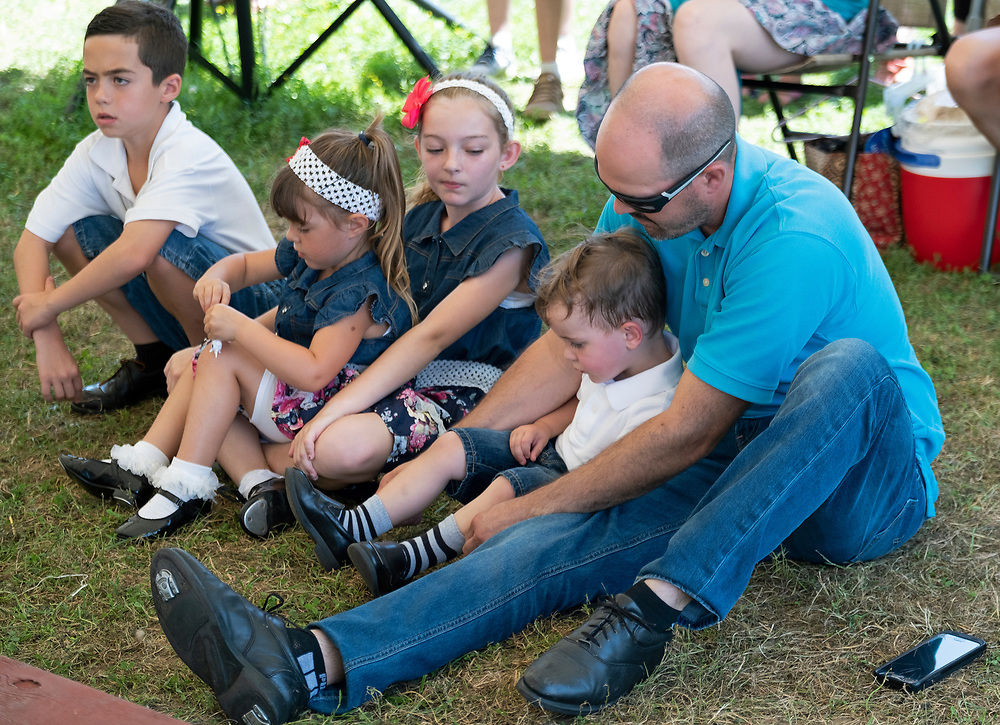 Members of the Miller Family perform during the Miller Family Hoedown at the 2019 Kutztown Folk Festival in Kutztown, Pennsylvania. (Photo by Matt Smith)