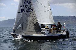 The Clyde Cruising Club's Scottish Series held on Loch Fyne by Tarbert. Day 2 racing in a perfect southerly<br /> <br /> Sonata, Fleet, start, GBR8025 ,Gallus ,Murray Caldwell  ,CCC/ Cove SC