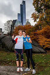 03-11-2018 USA: NYC Marathon We Run 2 Change Diabetes day 2, New York<br /> day before the marathon the usual photo shoot in Central Park / Nicole, Celina