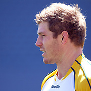 David Pocock, Australia, training during the Australian team's Captain's run at Eden Park in preparation for the third against fourth play off match with Wales at the IRB Rugby World Cup tournament, Auckland, New Zealand. 20th October 2011. Photo Tim Clayton...