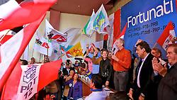 José Fortunati discursa durante ato político pró-reeleição e confirmação da adesão à aliança com os partidos da coligação – PDT, PMDB, PTB, PPS, PRB, PMN, PTdoB, PRP e PRTB, na sede municipal do PDT, em Porto Alegre. FOTO: Jefferson Bernardes/Preview.com