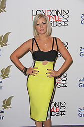 © Licensed to London News Pictures. 08/10/2014, UK. Suzanne Shaw, London Lifestyle Awards 2014, The Troxy, London UK, 08 October 2014. Photo credit : Brett D. Cove/Piqtured/LNP