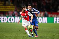 Bernardo SILVA / Jordan FERRI - 01.02.2015 - Monaco / Lyon - 23eme journee de Ligue 1 -<br />Photo : Eric Gaillard / Icon Sport