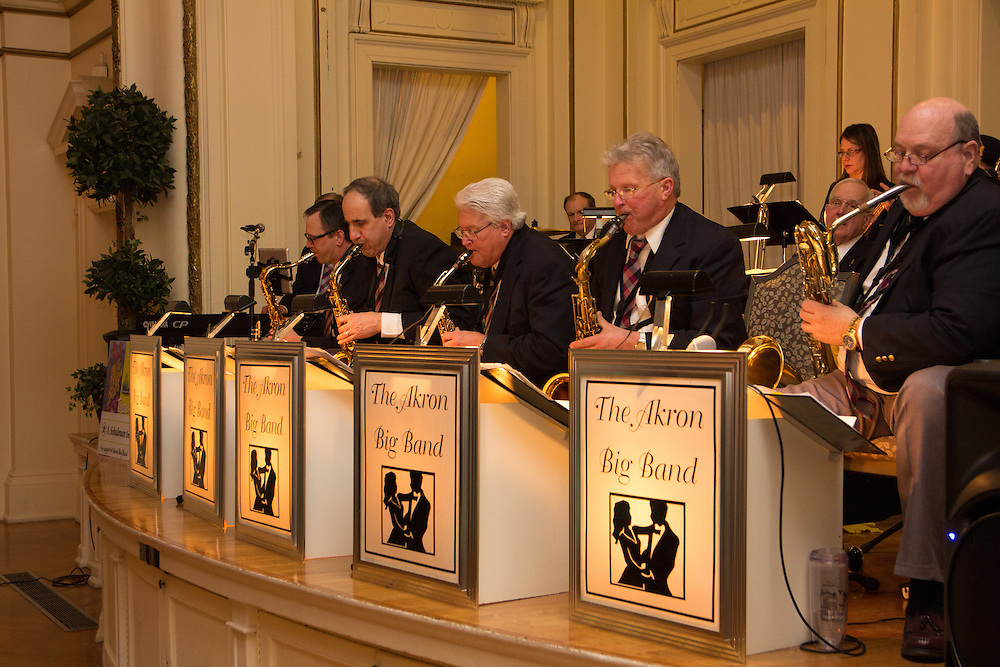 Akron Big Band performs at First Night Akron 2015