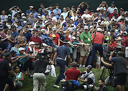 June 24, 2018 - Cromwell, CT, USA - Bubba Watson leaves the 18th hole after the final round of the Travelers Championship at TPC River Highlands in Cromwell, Conn., on Sunday, June 24, 2018. (Credit Image: © Brad Horrigan/TNS via ZUMA Wire)