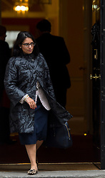 © Licensed to London News Pictures. 02/06/2015. Westminster, UK. Minister of State for Employment PRITI PATEL leaving Number 10 Downing Street in London following a cabinet meeting. Photo credit: Ben Cawthra/LNP