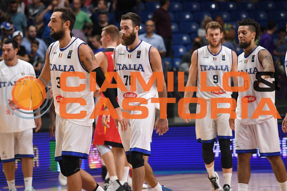 Marco Belinelli, Luigi Datome<br /> Nazionale Italiana Maschile Senior<br /> Eurobasket 2017 - Group Phase<br /> Italia Germania Italy Germany<br /> FIP 2017<br /> Tel Aviv, 05/09/2017<br /> Foto M.Ceretti / Ciamillo - Castoria