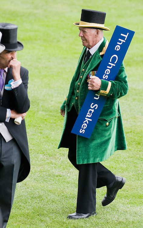 ASCOT, ENGLAND - JUNE 20:  A green Steward  at the fifth and final day of Royal Week at Ascot Racecourse on June 20, 2009 in Ascot, England  (Photo by Marco Secchi/Getty Images)