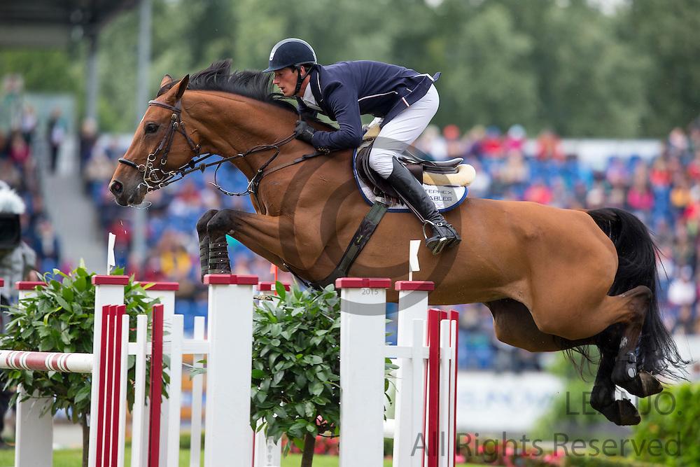 Daniel Deusser - Evita van de Veldbalie<br /> World Equestrian Festival, CHIO Aachen 2013<br /> © DigiShots