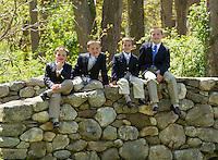 Mary Warzynski family portrait session Sudbury, MA.  Karen Bobotas Photographer