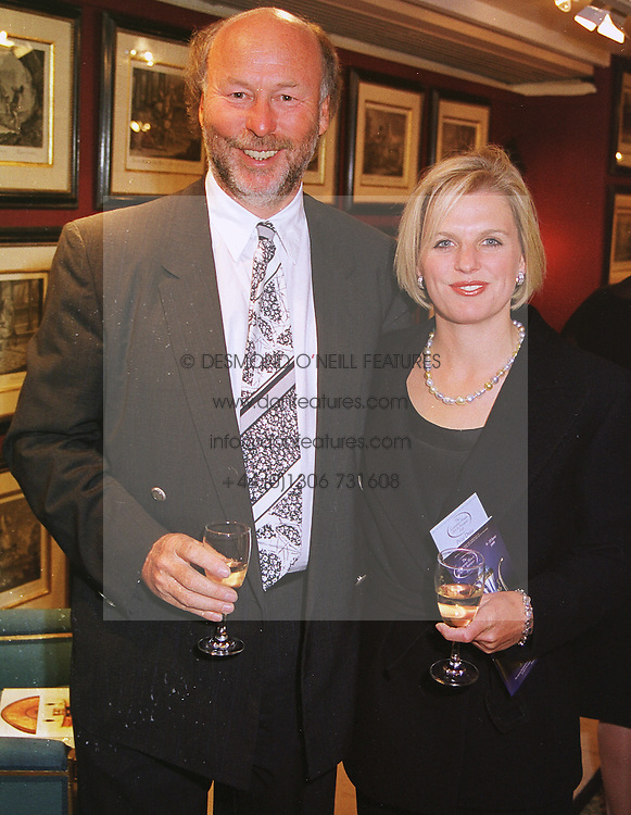 MR CHRIS WRIGHT owner of QPR Football Club and MISS JANICE STINNES, at a gala evening in London on 9th June 1999.MSZ 72