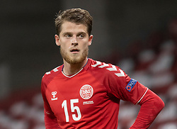 Mathias Jensen  (Danmark) under kampen i Nations League mellem Danmark og Island den 15. november 2020 i Parken, København (Foto: Claus Birch).