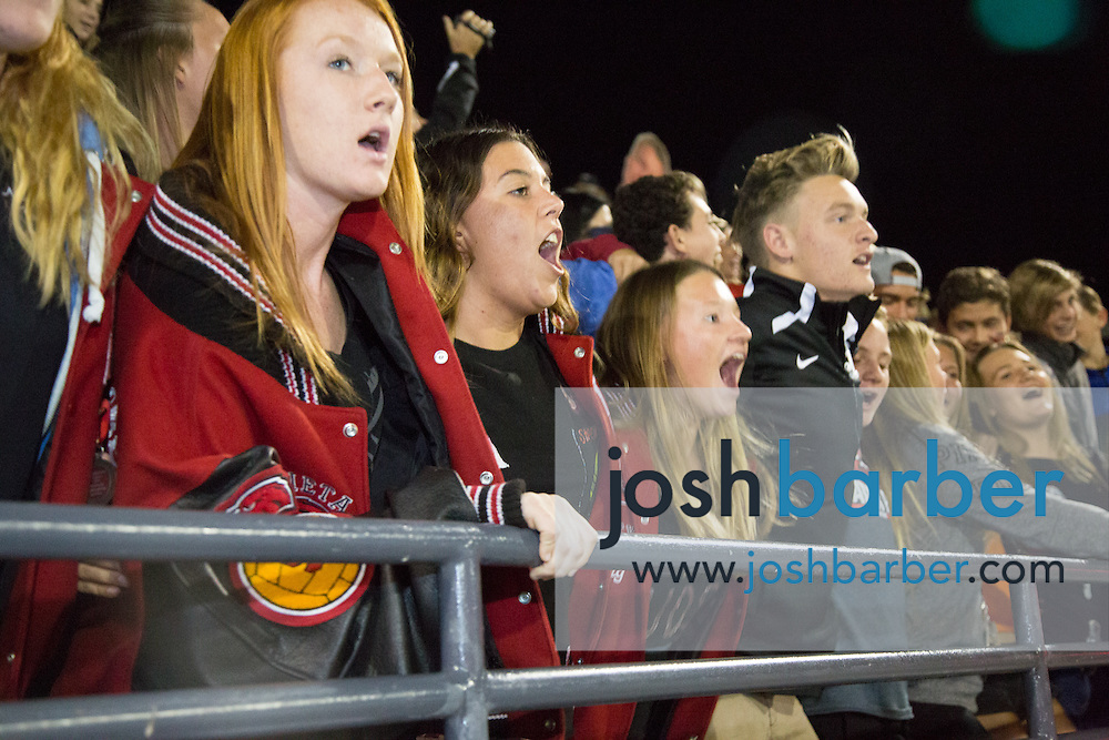 Murrieta Valley fans during the CIF-SS Division 3 Boys Water Polo Finals at Woollett Aquatic Center on Saturday, November 21, 2015 in Irvine, California. (Photo/Josh Barber)