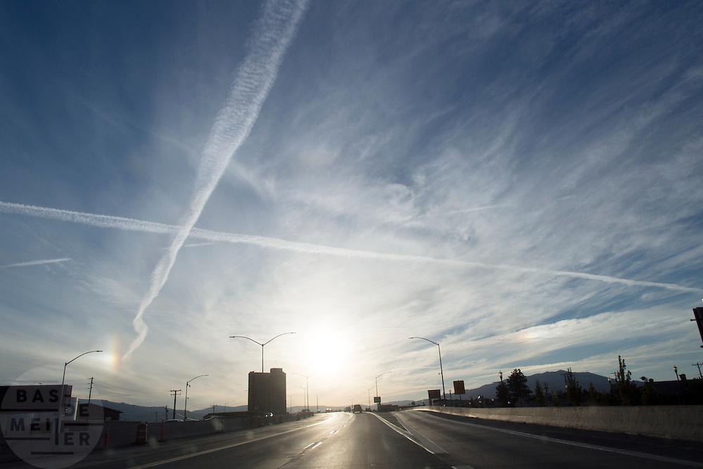 De Interstate 80 bij Sparks, Nevada.<br /> <br /> The Interstate 80 near Sparks, Nevada.