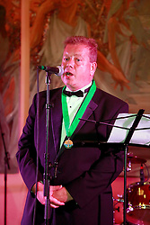 08 November 2014. New Orleans, Louisiana. <br />  2014 International Irish Famine Adrian D'Arcy, President of the Irish Network, New Orleans.<br /> Photo; Charlie Varley/varleypix.com