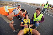 Ellen van Vugt. In Battle Mountain (Nevada) wordt ieder jaar de World Human Powered Speed Challenge gehouden. Tijdens deze wedstrijd wordt geprobeerd zo hard mogelijk te fietsen op pure menskracht. Ze halen snelheden tot 133 km/h. De deelnemers bestaan zowel uit teams van universiteiten als uit hobbyisten. Met de gestroomlijnde fietsen willen ze laten zien wat mogelijk is met menskracht. De speciale ligfietsen kunnen gezien worden als de Formule 1 van het fietsen. De kennis die wordt opgedaan wordt ook gebruikt om duurzaam vervoer verder te ontwikkelen.<br /> <br /> In Battle Mountain (Nevada) each year the World Human Powered Speed Challenge is held. During this race they try to ride on pure manpower as hard as possible. Speeds up to 133 km/h are reached. The participants consist of both teams from universities and from hobbyists. With the sleek bikes they want to show what is possible with human power. The special recumbent bicycles can be seen as the Formula 1 of the bicycle. The knowledge gained is also used to develop sustainable transport.