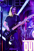 Eddie Jackson - bass, backing vocals with Queensryche performs at The House of Blues in Anaheim Ca. on their VERDICT TOUR -January 30th, 2020