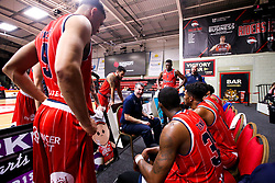 Bristol Flyers head coach, Andreas Kapoulas gives a team talk - Photo mandatory by-line: Robbie Stephenson/JMP - 11/01/2019 - BASKETBALL - Leicester Sports Arena - Leicester, England - Leicester Riders v Bristol Flyers - British Basketball League Championship