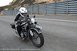 Brent Hansen riding his 1926 BMW R42 in the Motorcycle Cannonball coast to coast vintage run. Stage 14 (303 miles) from Spokane, WA to The Dalles, OR. Saturday September 22, 2018. Photography ©2018 Michael Lichter.