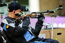 ASAKA, JAPAN - AUGUST 30: Franc Pinter -Anco of Team Slovenia competes during the R1 - Men's 10m AR Standing SH1 Qualification on Day 6 of the Tokyo 2020 Paralympic Games at Asaka Shooting Range, Asaka, Japan.  Photo by Vid Ponikvar / Sportida