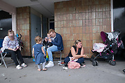 A family of 3 generations who live at the Aylesbury Estate, a large housing estate located in Walworth, on 15th June 2016 in South London, United Kingdom. The Aylesbury Estate contains 2,704 dwellings and was built between 1963 and 1977. The estate is partially occupied and is currently undergoing a major redevelopment.