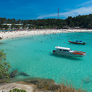 Raya island beach and boats, Thailand