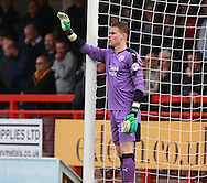 Crawley Town goalkeeper Callum Preston organises his defence during the Sky Bet League 2 match between Crawley Town and Leyton Orient at the Checkatrade.com Stadium, Crawley, England on 10 October 2015. Photo by Bennett Dean.