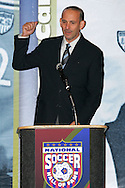 28 August 2006: Major League Soccer Commissioner Don Garber. The National Soccer Hall of Fame Induction Ceremony was held at the National Soccer Hall of Fame in Oneonta, New York.