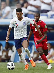 (L-R) Jesse Lingard of England, Armando Cooper of Panama, during the 2018 FIFA World Cup Russia group G match between England and Panama at the Nizhny Novgorod stadium on June 24, 2018 in Nizhny Novgorod, Russia