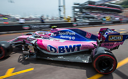 May 25, 2019 - Montecarlo, Monaco - Lance Stroll of Canada and Racing Point driver goes during the qualification session at Formula 1 Grand Prix de Monaco on May 25, 2019 in Monte Carlo, Monaco. (Credit Image: © Robert Szaniszlo/NurPhoto via ZUMA Press)