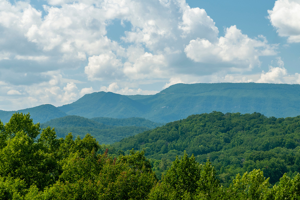 View of English Mountain from the English Mountain Overlook on the Foothills Parkway in Great Smoky Mountains National Park in Cosby, Tennessee on Tuesday, August 11, 2020. Copyright 2020 Jason Barnette