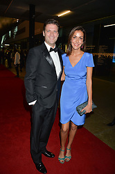 NATASHA CAINE and ? at the GQ Men of The Year Awards 2016 in association with Hugo Boss held at Tate Modern, London on 6th September 2016.