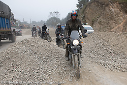 Round the World Doug Wothke on day-9 of our Himalayan Heroes adventure riding from Pokhara to Nuwakot, Nepal. Wednesday, November 14, 2018. Photography ©2018 Michael Lichter.