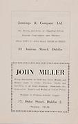 Jennings  & Company, 81 Amiens Street, Dublin,.John Miller,17 Duke Street, Dublin