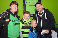 Rovers raffle prize winners during the Vanarama National League match between Forest Green Rovers and Dagenham and Redbridge at the New Lawn, Forest Green, United Kingdom on 29 October 2016. Photo by Alan Franklin.