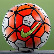 Ball of the match during the Turkish superleague soccer derby Fenerbahce between Eskisehirspor at the Sukru Saracaoglu stadium in Istanbul Turkey on Friday 14 August 2015. Photo by Aykut AKICI/TURKPIX