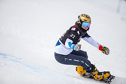 Larissa Gasser (SUI) during Final Run at Parallel Giant Slalom at FIS Snowboard World Cup Rogla 2019, on January 19, 2019 at Course Jasa, Rogla, Slovenia. Photo byJurij Vodusek / Sportida