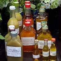 Europe, Latvia, Riga. Fresh locally farmed honey for sale at the Riga market.