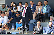 Tony Fernandes, the QPR Chairmen looks on from the stands. Skybet EFL championship match, Queens Park Rangers v Leeds United at Loftus Road Stadium in London on Sunday 7th August 2016.<br /> pic by John Patrick Fletcher, Andrew Orchard sports photography.