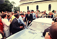 Senator Edward Kennedy arrives for his arraignment  at Edgartown MA on July 20,. 1969<br /><br /><br />Photo by Dennis Brack bb72
