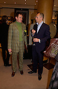 Nick Foulkes and Dylan Jones. Olivier Widmaier Picasso's book launch for Picasso: The Real Family Story.  Co-hosted by dunhill CEO Simon Critchell and Prestel Publishing -  Dunhill, 48 Jermyn Street, London, SW1, 6.30-8.30pm. ONE TIME USE ONLY - DO NOT ARCHIVE  © Copyright Photograph by Dafydd Jones 66 Stockwell Park Rd. London SW9 0DA Tel 020 7733 0108 www.dafjones.com