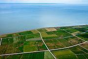 Nederland, Friesland, Terschelling, 05-08-2014;  Terschellingerpolder ten zuiden van Hoorn. Zicht op het Wad en de Waddenzee.<br /> Wadden island Terschelling with polders and Wadden Sea.<br /> luchtfoto (toeslag op standard tarieven);<br /> aerial photo (additional fee required);<br /> copyright foto/photo Siebe Swart