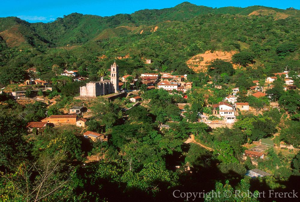 MEXICO, PACIFIC COAST, SINALOA STATE Copala, half abandoned mining town set in lush foliage inland from Mazatlan