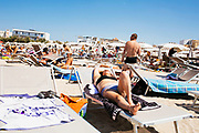 Daily life at the San Francesco beach in Bari on 7 August 2019. Christian Mantuano / OneShot