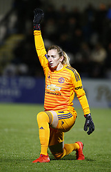 February 7, 2019 - London, England, United Kingdom - Siobhan Chamberlain of Manchester United Women .during FA Continental Tyres Cup Semi-Final match between Arsenal and Manchester United Women FC at Boredom Wood on 7 February 2019 in Borehamwood, England, UK. (Credit Image: © Action Foto Sport/NurPhoto via ZUMA Press)