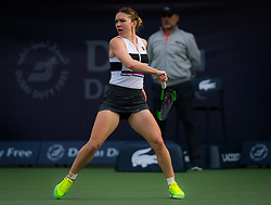 February 19, 2019 - Dubai, ARAB EMIRATES - Simona Halep of Romania in action during her second-round match at the 2019 Dubai Duty Free Tennis Championships WTA Premier 5 tennis tournament (Credit Image: © AFP7 via ZUMA Wire)