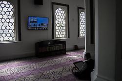 June 6, 2017 - Kuala Lumpur, Malaysia - A muslim man recite the Holy Quran in a Jamek mosque during the Holy month of ramadan at Malaysia , Ramadan the Holiest month on Islamic calendar , Muslims refrain from eating , drinking from dawn until sunset , 6 june 2017  (Credit Image: © Mustaqim Khairuddin/NurPhoto via ZUMA Press)