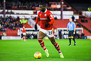 Mamadou Thiam of Barnsley (26) in action during the EFL Sky Bet League 1 match between Barnsley and Bradford City at Oakwell, Barnsley, England on 12 January 2019.