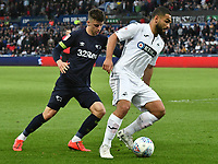 Football - 2018 / 2019 Sky Bet EFL Championship - Swansea City vs. Derby County<br /> <br /> Cameron Carter-Vickers Swansea City & Martyn Waghorn Derby County, at The Liberty Stadium.<br /> <br /> COLORSPORT/WINSTON BYNORTH